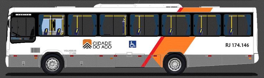 ônibus da viação cidade do aço